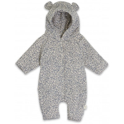 Konges Sløjd Newborn Onesie with Hood Blue Blossom Mist