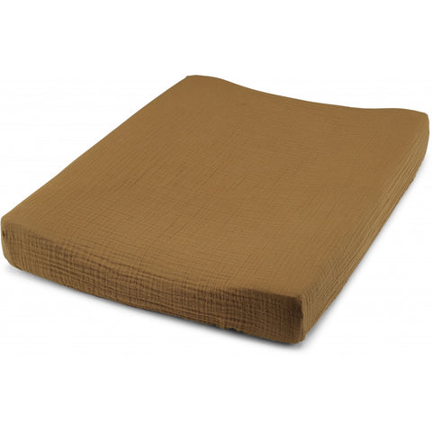 Pre order (ships next week) Konges Sløjd Fitted Sheet for changing cushion Dark Honey