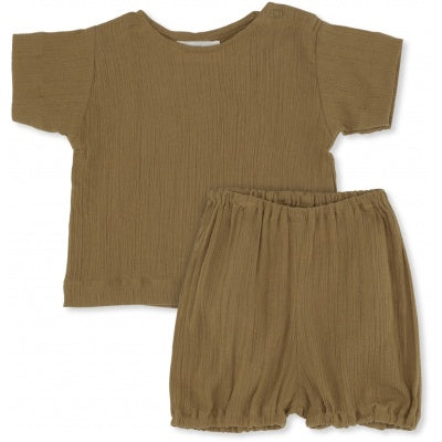 Konges Slojd High Twist Boy Tee + Bloomer Dark Honey
