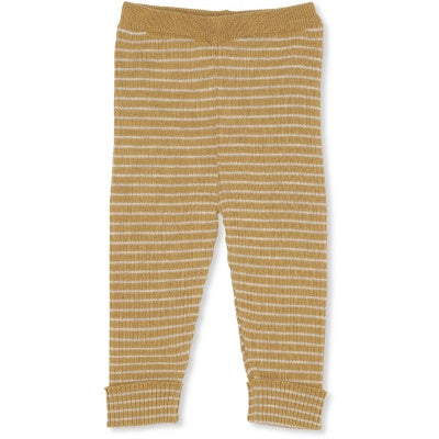 Konges Slojd Meo Knit Pants Striped Acacia Beige
