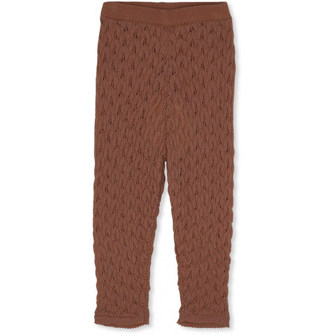 Konges Slojd Bremer Pointelle Wool Pants Toffee
