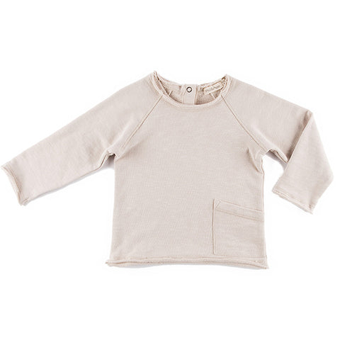 Phil & Phae Raw edge sweater oatmeal - last one 6-12M