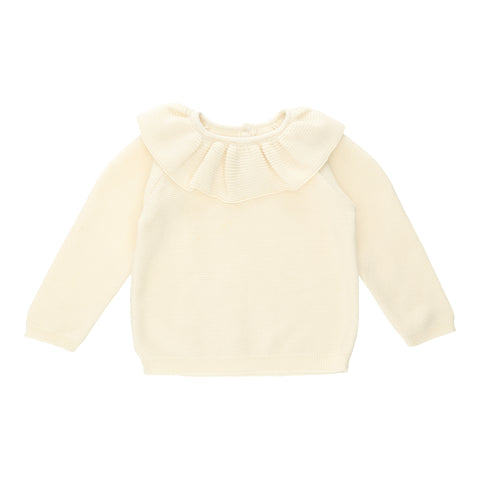 Konges Sløjd Fiol Knit collar sweater off white - Last one 68/74