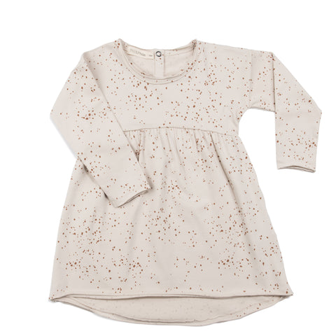 Phil & Phae Dress Moise AOP Oatmeal - Last one 3Y