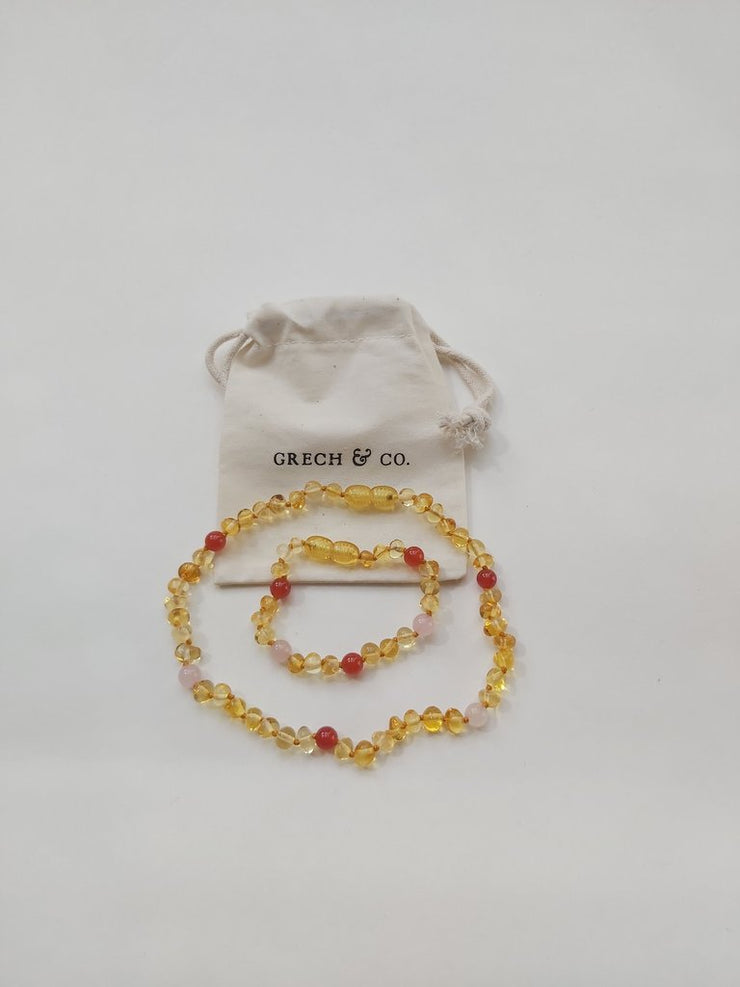 Grech & Co. Baltic Amber Children's Bracelet / Anklet - Goddess Light