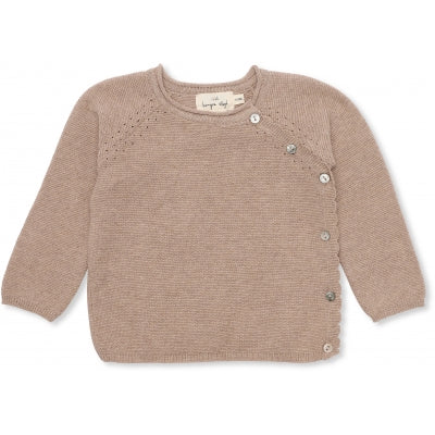 Konges Slojd Matheo cardigan brown melange