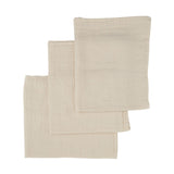 Konges Sløjd Muslin Cloths 10 pack Natural 100% raw organic cotton