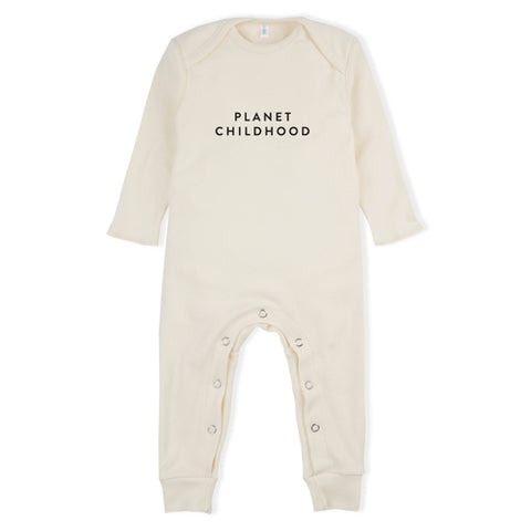 Organic Zoo Natural Playsuit Planet Childhood - Last one 0-3M
