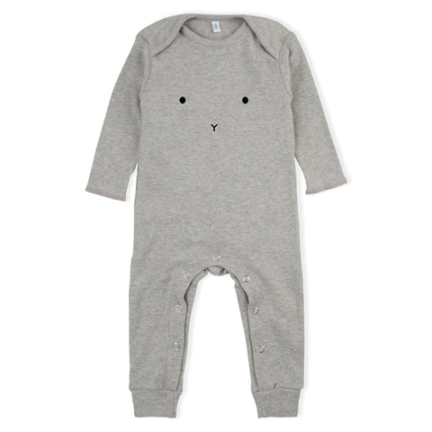 Organic Zoo Grey Bunny Playsuit