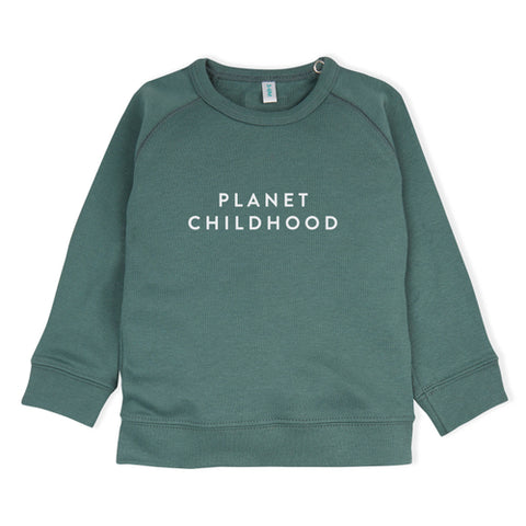 Organic Zoo Pine Green Sweatshirt Planet Childhood - Last one 6-12M