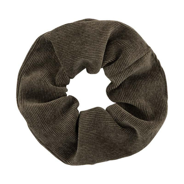 Atelier des Femmes Dark green corduroy Medium Scrunchie Marie