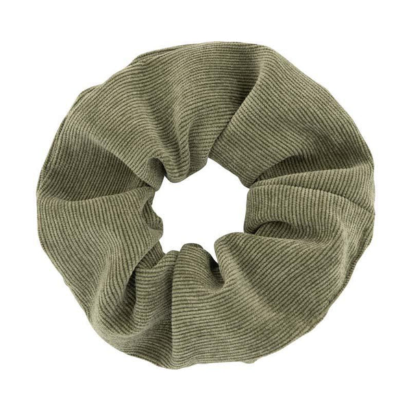 Atelier des femmes Light green corduroy Medium Scrunchie Penny