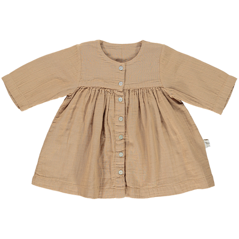 Poudre Organic Aubepine Dress Indian Tan