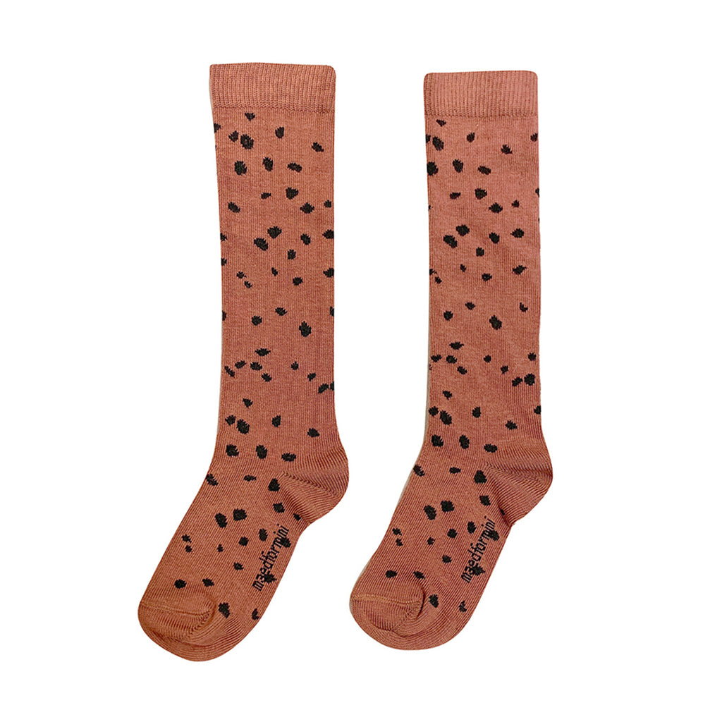 Maed for mini Brown Sahara Leopard AOP Knee Socks