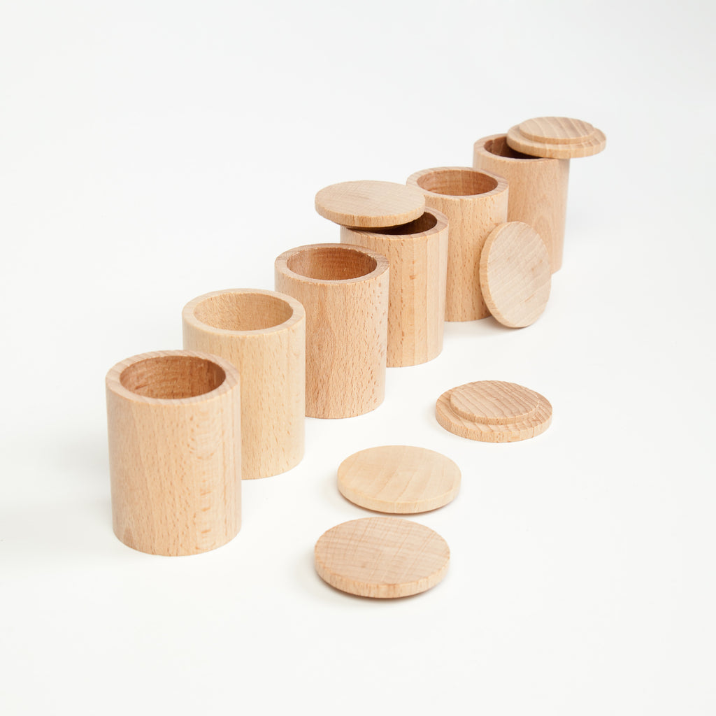 Grapat 6 x natural cups with cover