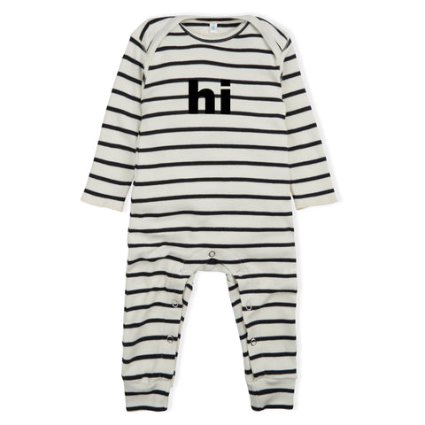 Organic Zoo Breton Stripe HI Playsuit
