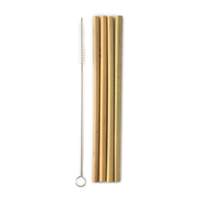 Humble Brush Bamboo Straw 4 pack plus cleaner
