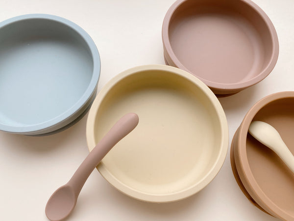 Konges Slojd Bowl and Spoon Sillicone Set (4 colors) ships next week
