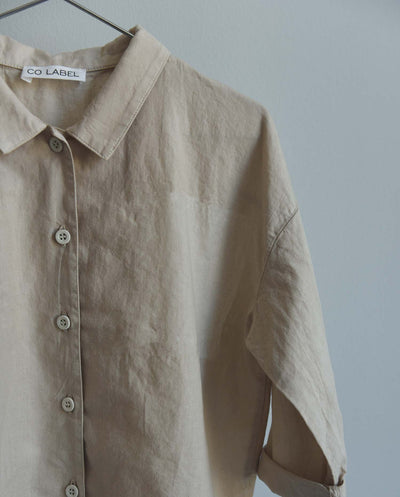 Co Label Blouse Bo Sand