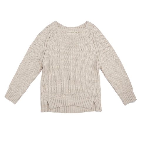 Phil and Phae Chunky Knit Sweater Stone Melange