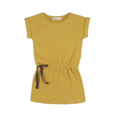 Phil and Phae Textured Blouson Dress Dusty Yellow