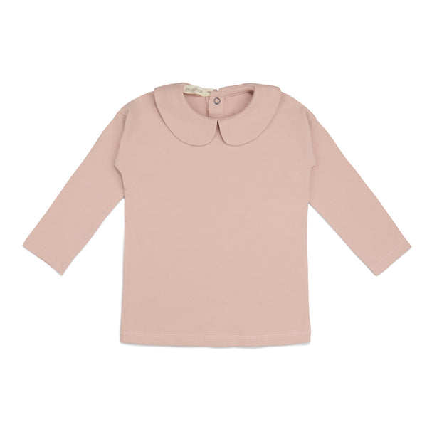Phil and Phae Collar tee l/s Blush