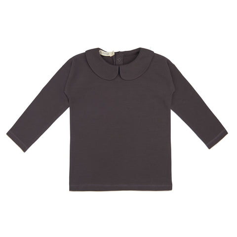 Phil and Phae Collar tee l/s Graphite