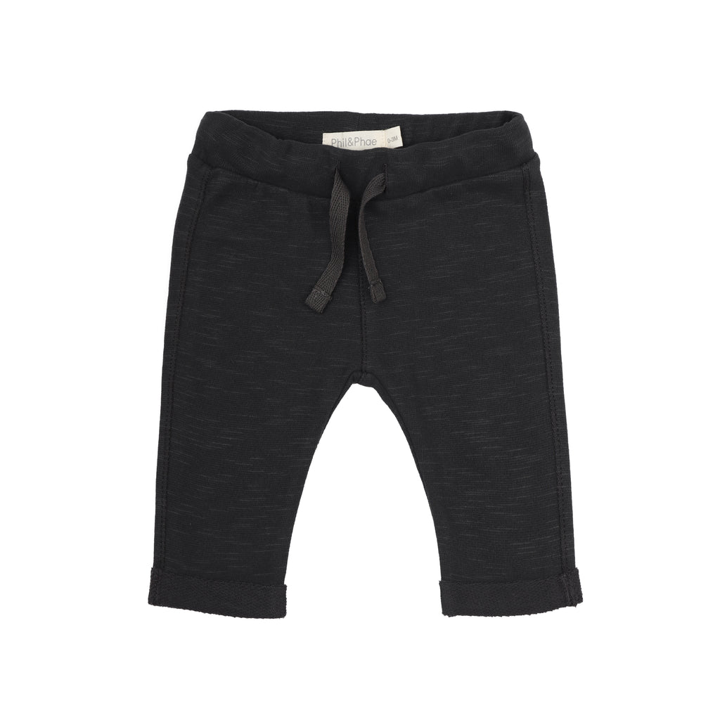 Phil and Phae Baby Sweat Pants Slub Charcoal