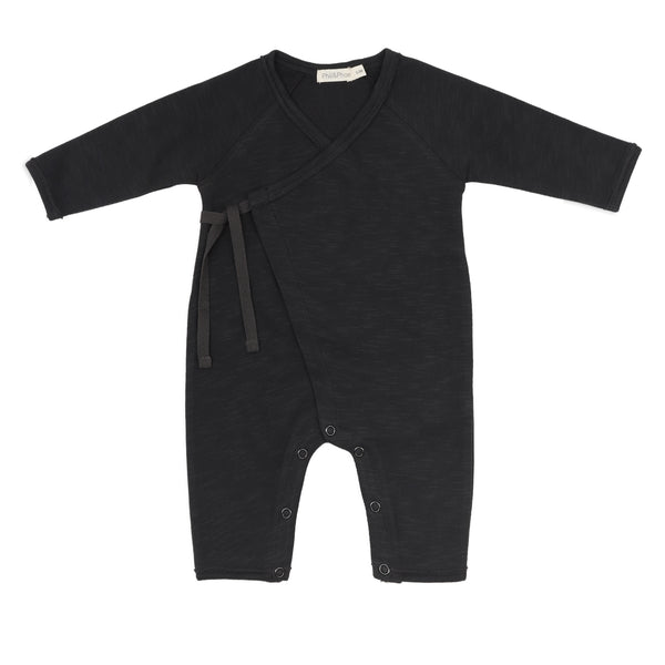 Phil and Phae Cross-over newborn suit Charcoal