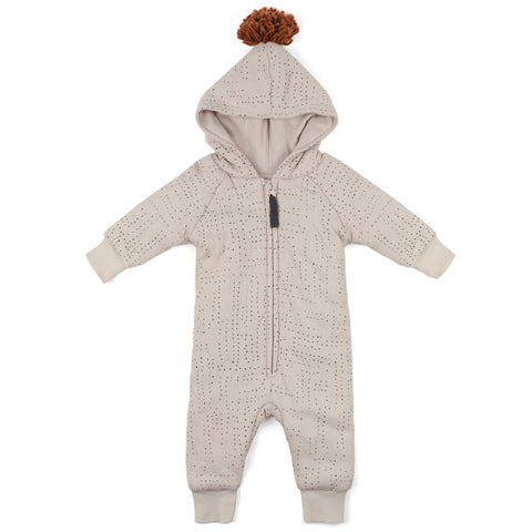 Phil and Phae Padded Babysuit Almond Milk