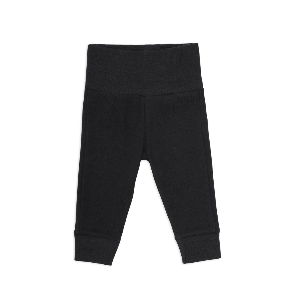 Phil and Phae Newborn leggings pointelle Charcoal
