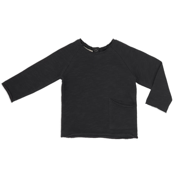 Phil and Phae Raw-edged baby sweater Charcoal