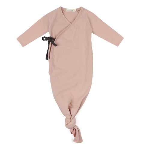 Phil and Phae Knotted Baby Gown Blush