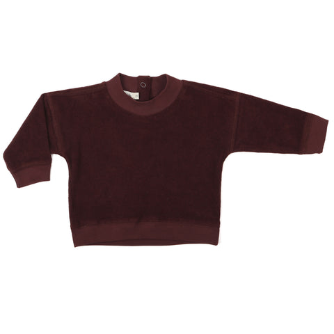 Phil and Phae Frotté baby sweater Aubergine