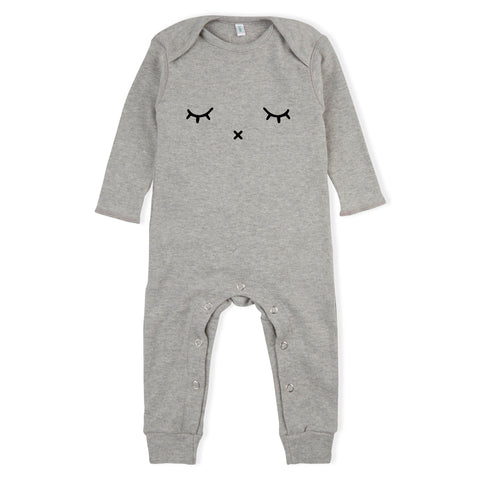 Organic Zoo Grey Sleepy Playsuit - Last one 3-6M
