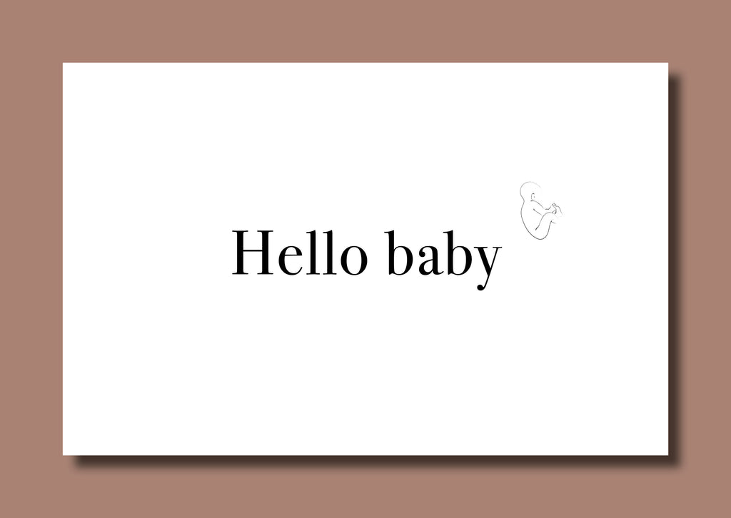 Card Hello Baby