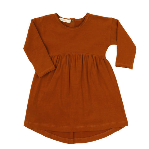 Phil and Phae Drop-shoulder dress Burnt Orange