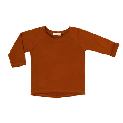 Phil and Phae Raglan tee l/s Burnt Orange