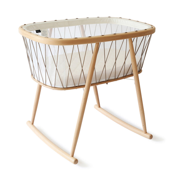 Charlie Crane KUMI Crib Mesh with Organic Coco Mattress Hazelnut