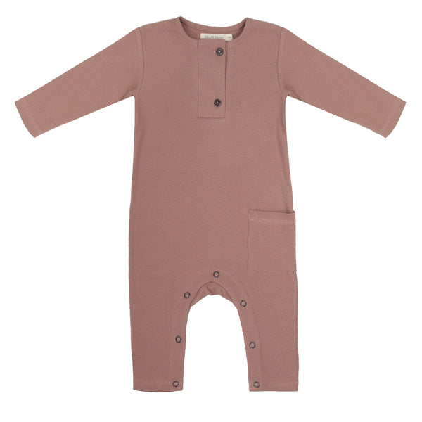 Phil & Phae Rib henley jumpsuit l/s Powder