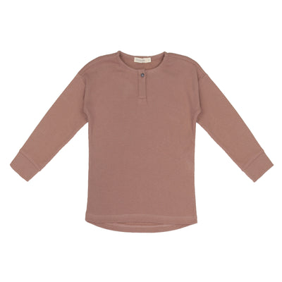 Phil & Phae Rib henley top l/s Powder