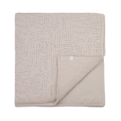 Phil and Phae Padded Baby Blanket Almond Milk