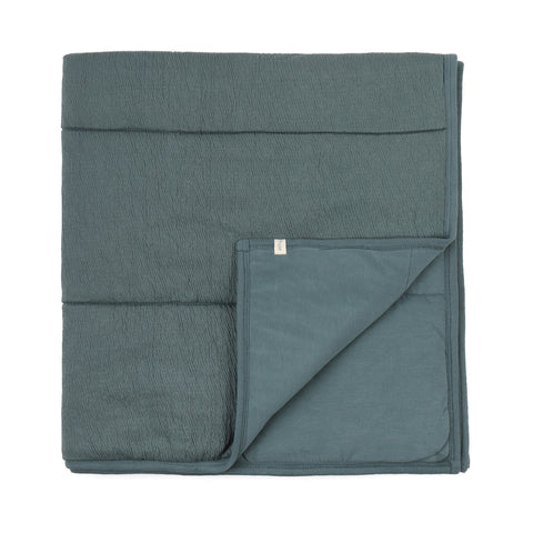 Phil and Phae Padded Baby Blanket Balsam Blue
