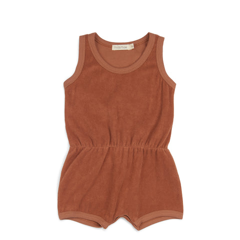 Phil and Phae Frotte Playsuit Burnt Clay - Last one 3-6M