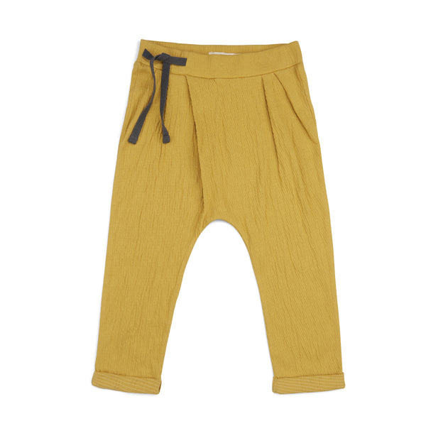 Phil and Phae Pleated Harem Pants Dusty Yellow - Last one 2Y