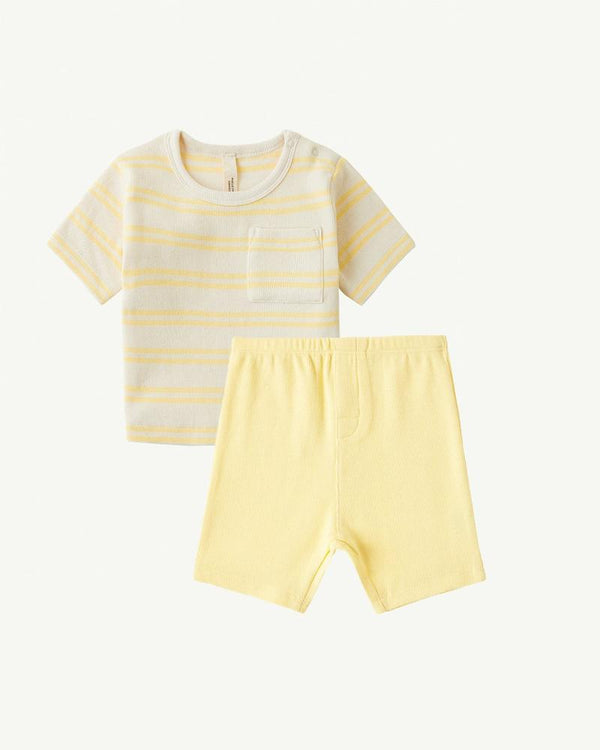 Summer and Storm Baby Tee and Shorts set Yellow