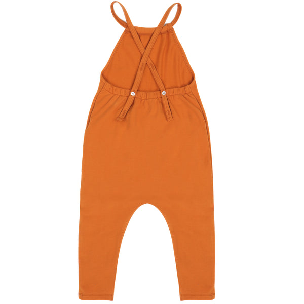 Phil and Phae Gathered Jumpsuit Tangerine