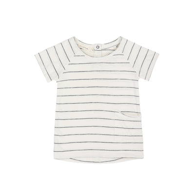 Phil and Phae Raw Tee Vaninlla Stripe Shortsleeve  - Last one 4Y