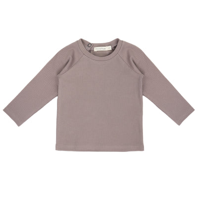 Phil and Phae Baby Rib Tee Longsleeve Haze Grey - Last one 3-6M