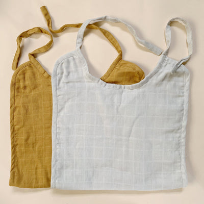 Haps Nordic Muslin Long Bib cold colors